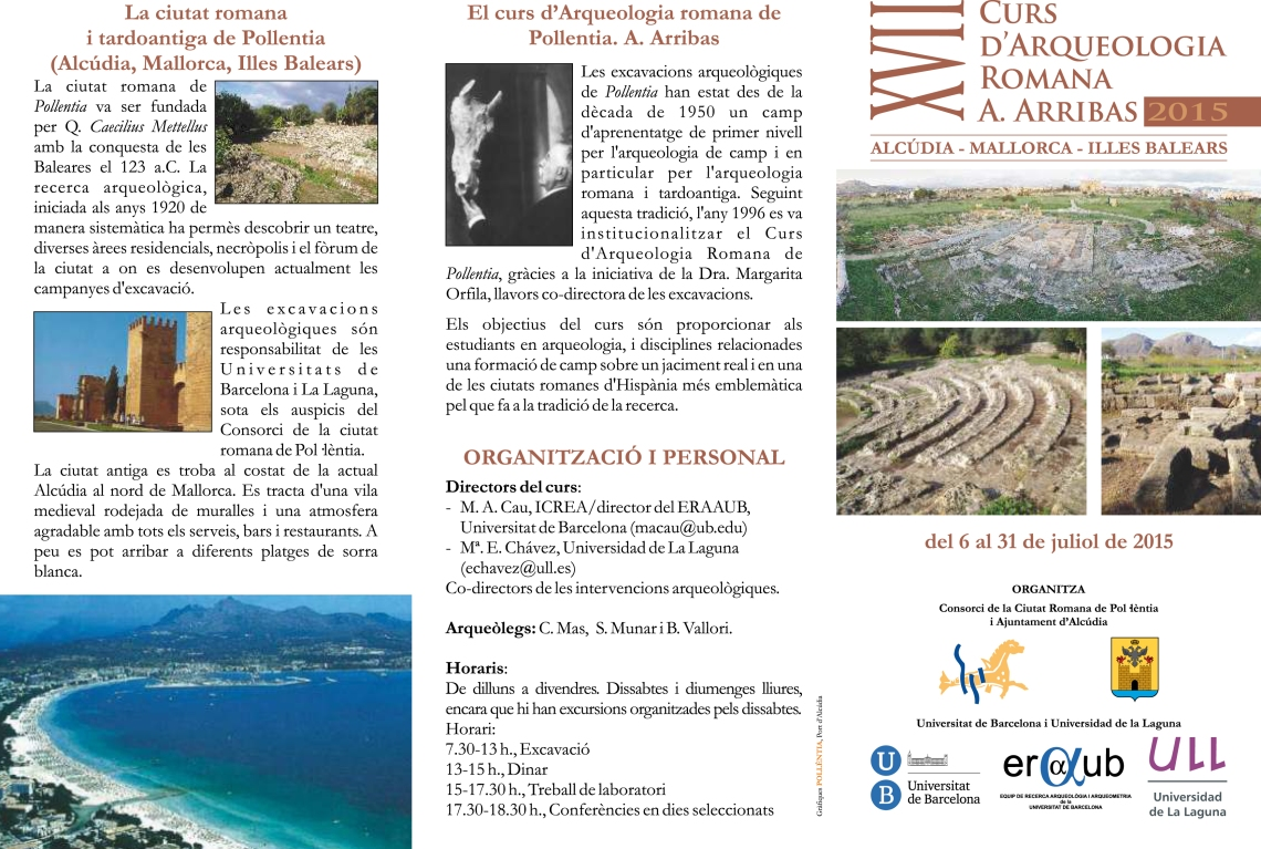 Curs Arqueologia - Triptic catala 2015