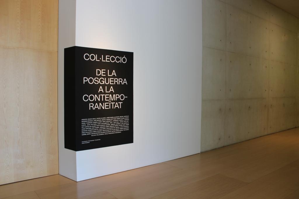 Cartell de l'exposició temporal: Col·lecció de la postguerra a la contemporaneïtat.